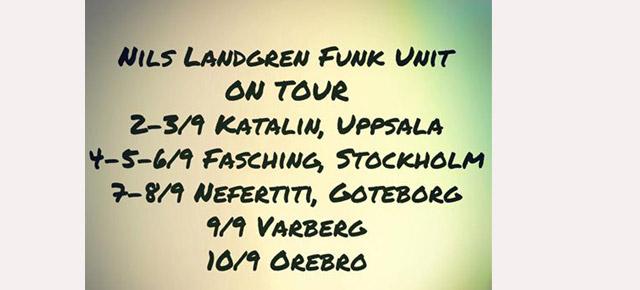 Nils Landgren Funk Unit Swedish Tour